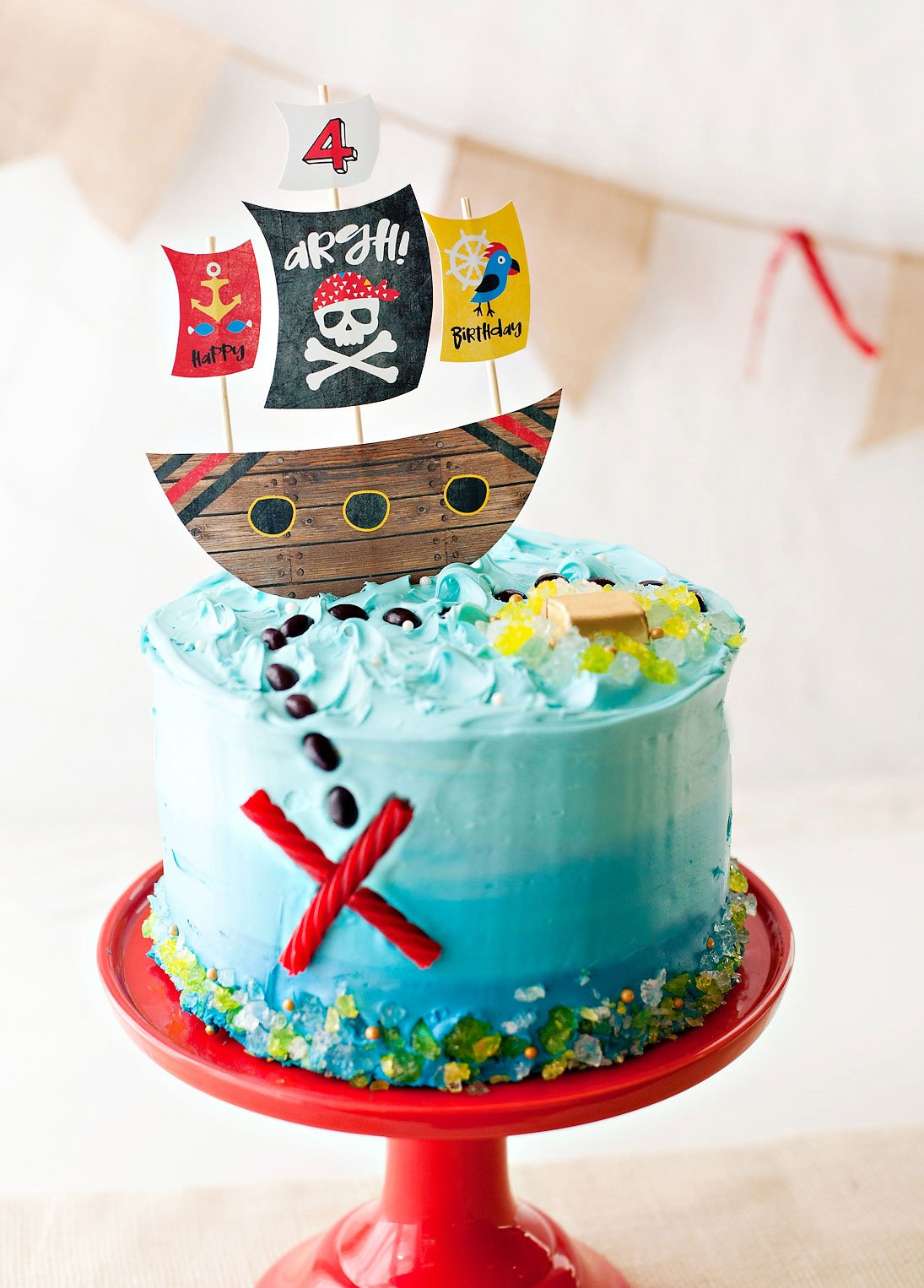 Pirate Party Cake Tutorial