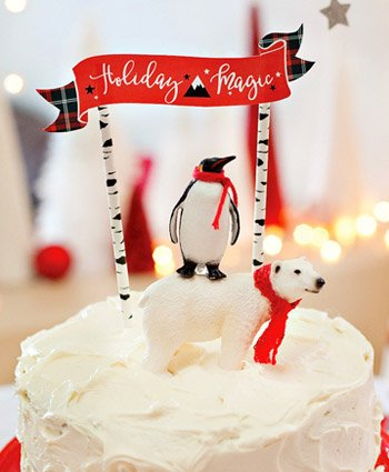 Snowy Holiday Cake