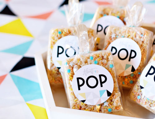 About to POP Baby Shower Favor Pops