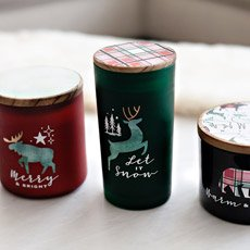forest animal candles cricut