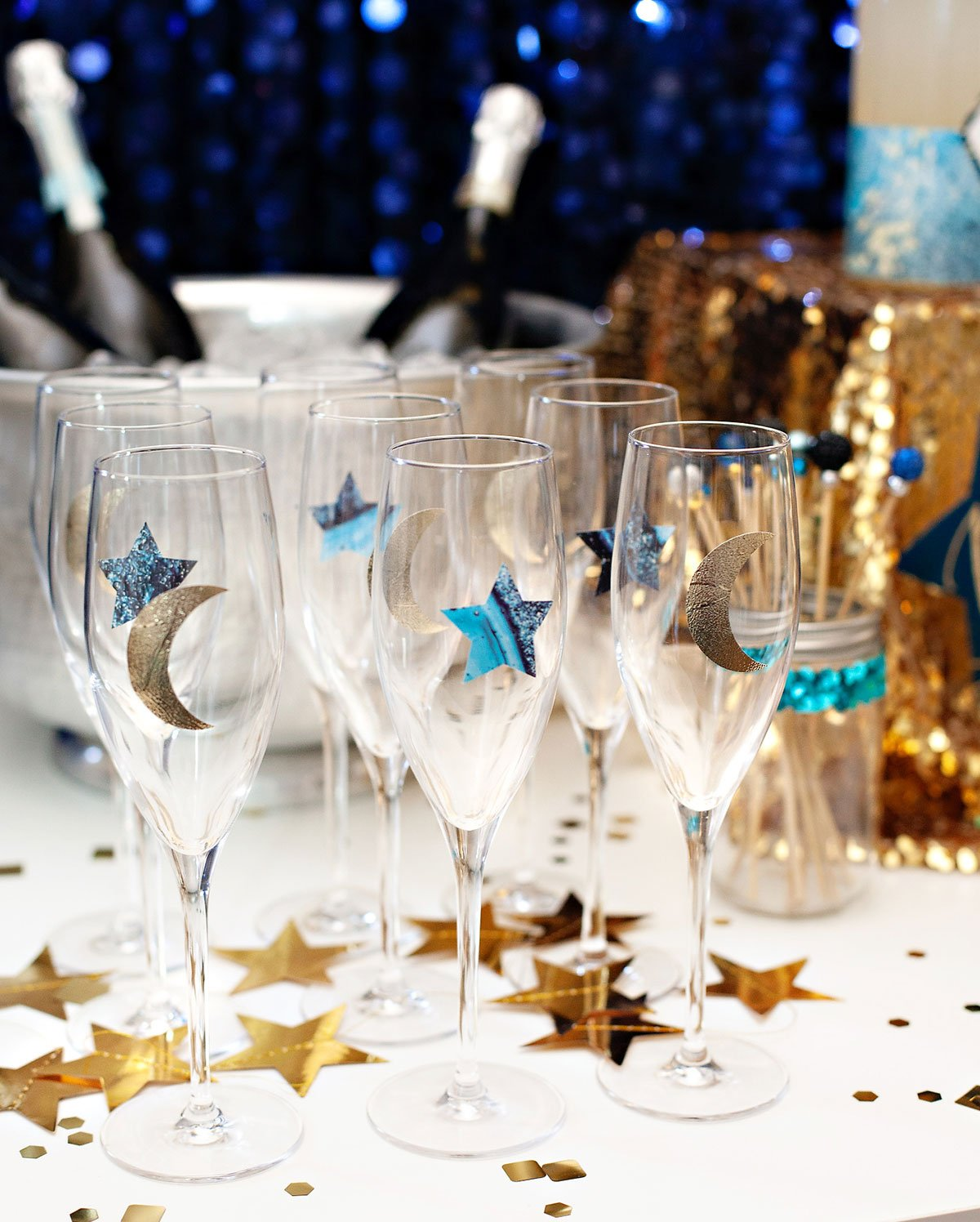 Bubbly Bar Glasses with Stars