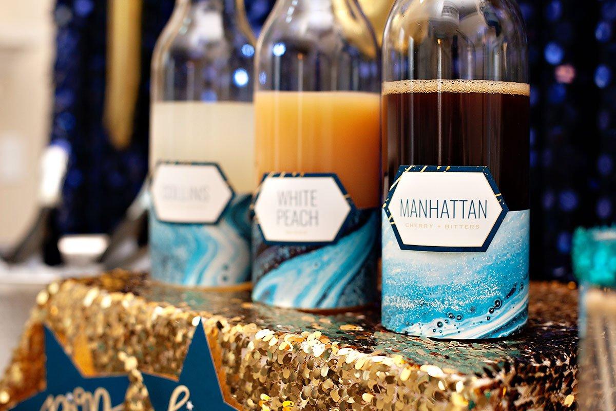 drink station editable labels