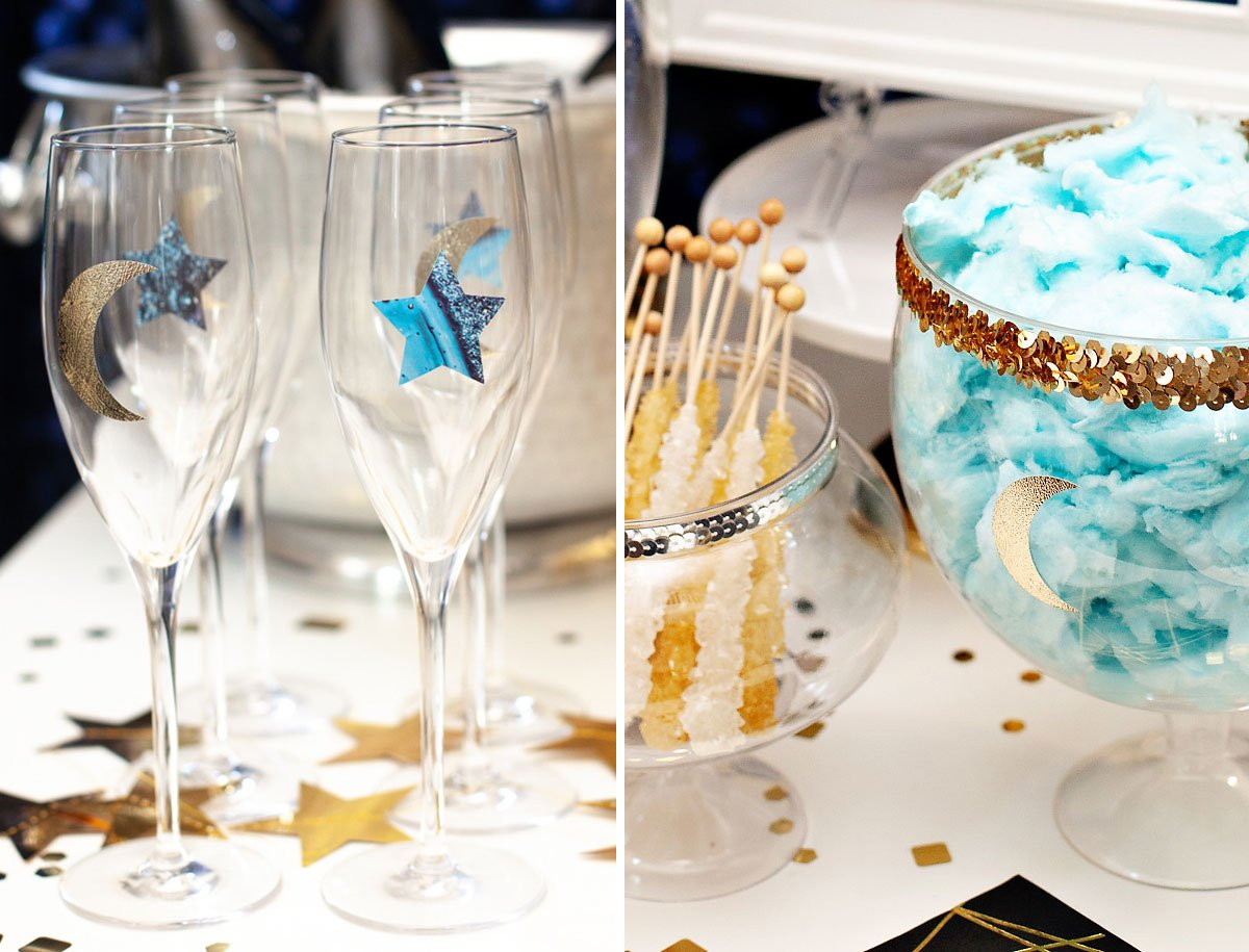sparkly champagne bar ideas