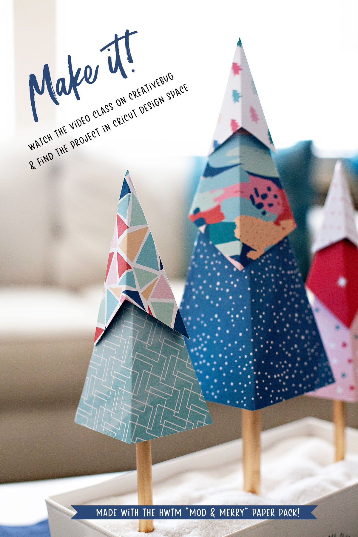 Geometric Paper Trees - Holiday Decor