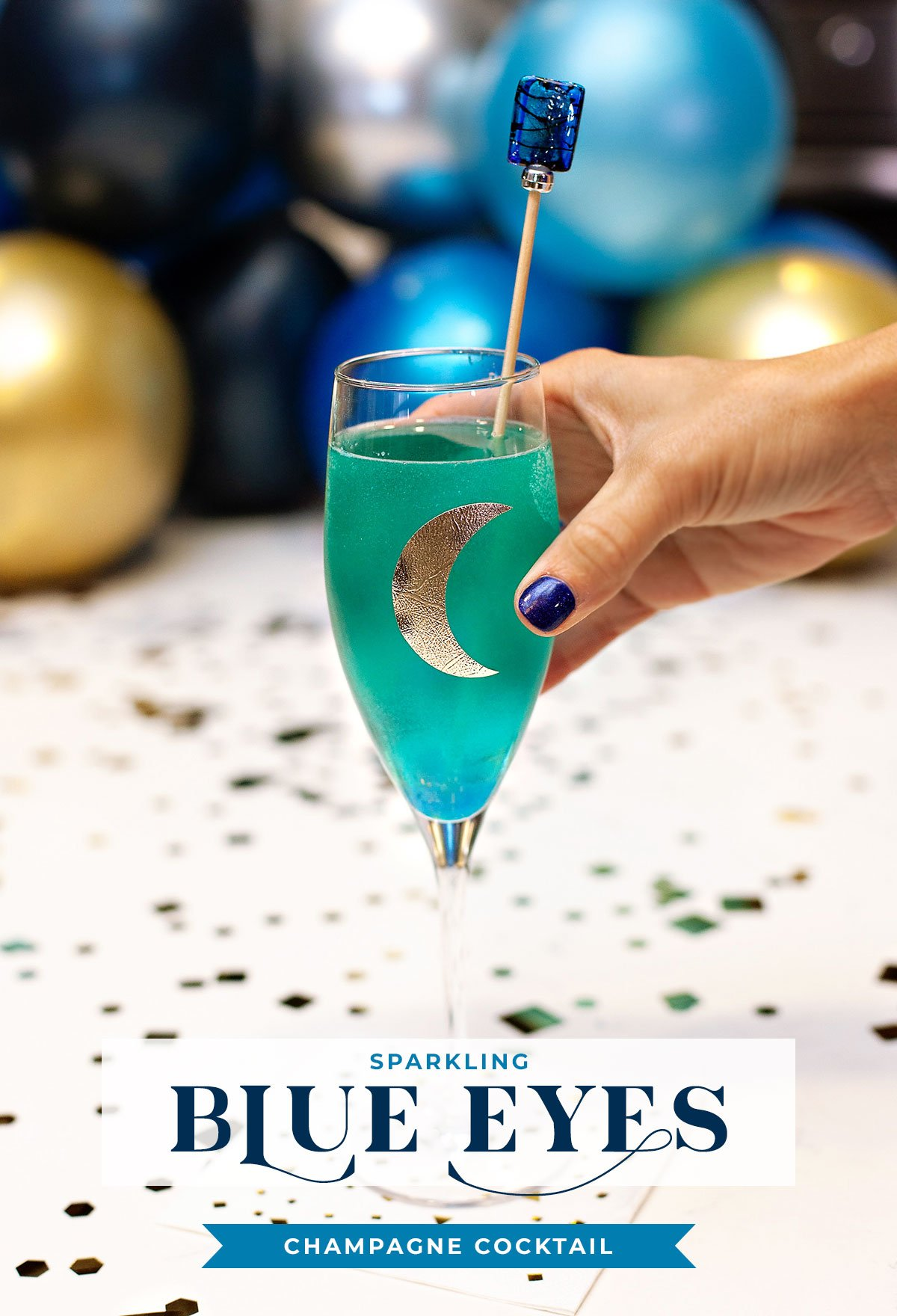 Sparkling Blue Eyes Cocktail