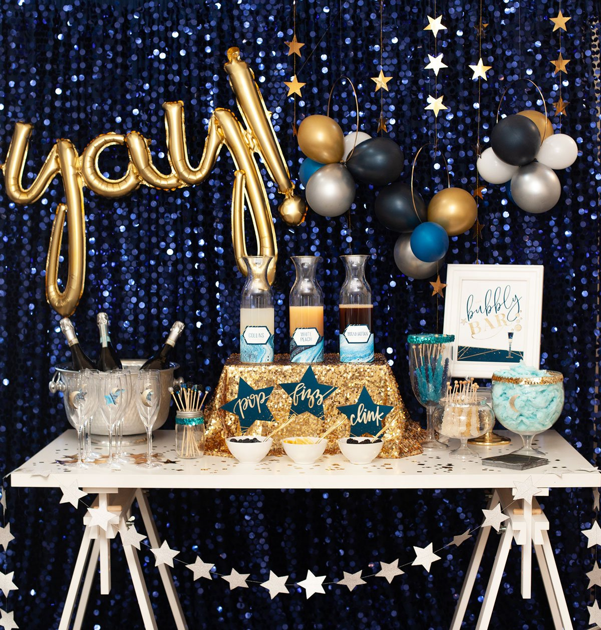 DIY Champagne Bar for New Year's Eve