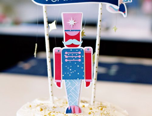 Nutcracker Christmas Cake Topper
