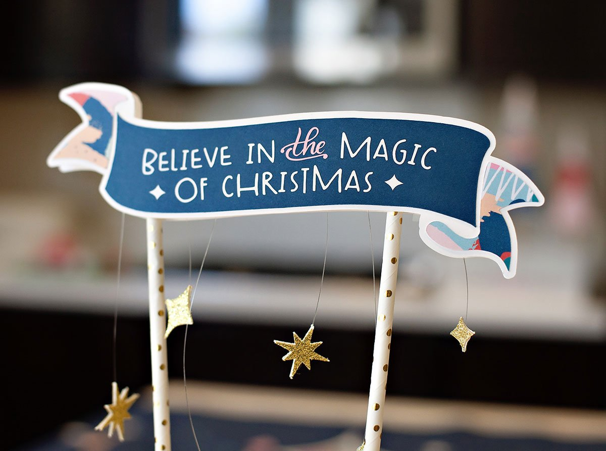 Magic of Christmas Ribbon Banner