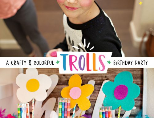 Crafty & Colorful Trolls Birthday Party Ideas
