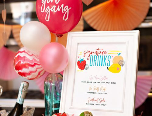 A Fruity & Modern Galentine's Day Party