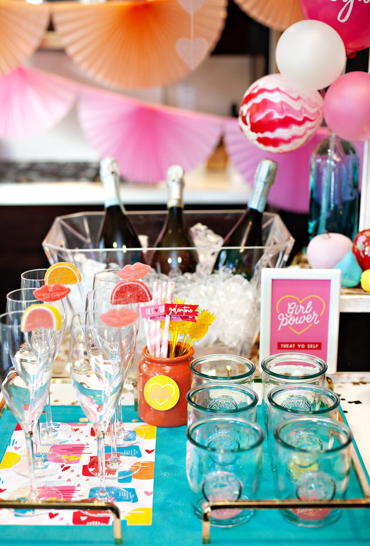 Valentine's Day Drink Station