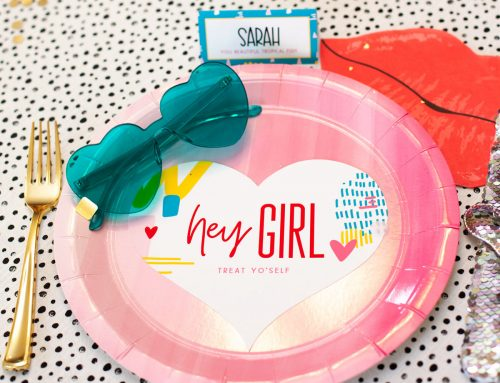 Hey Girl! A Modern Galentine's Day Table