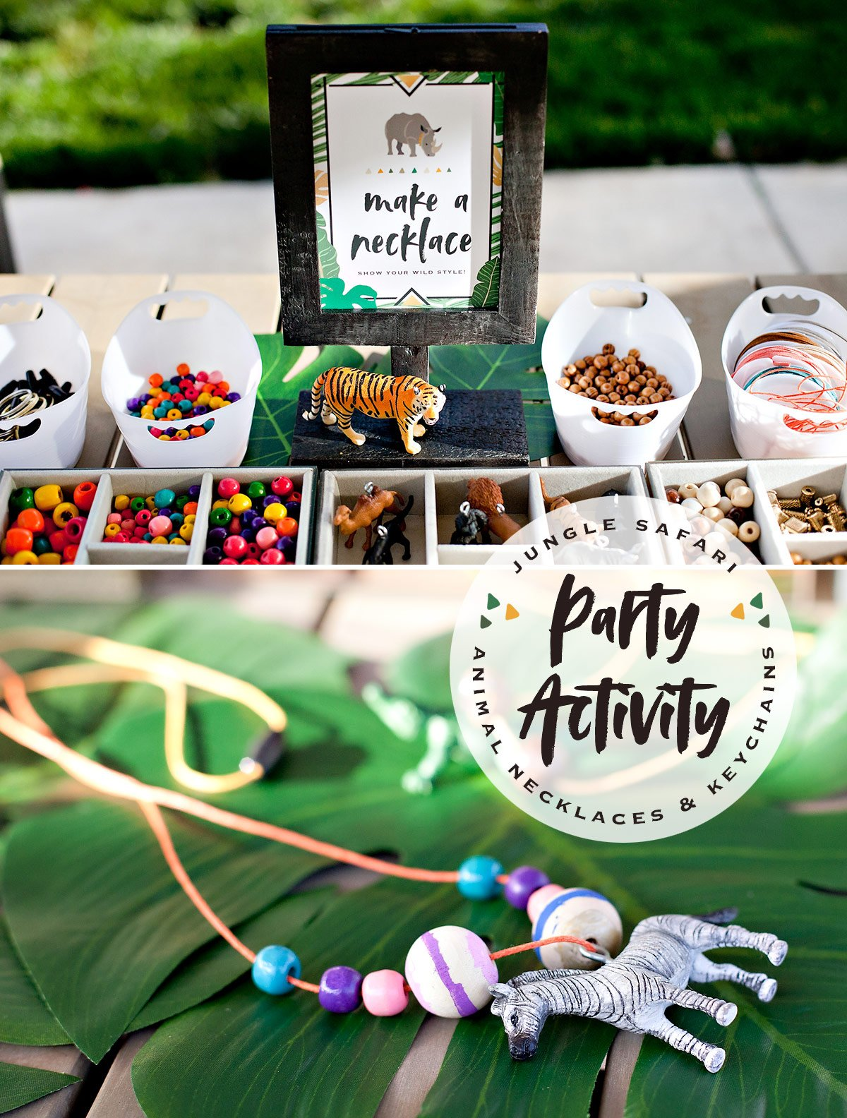 Jungle Safari Necklace Party Activity