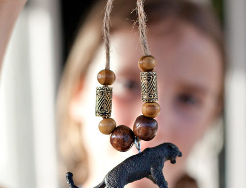 Jungle Safari Party Activity: Necklaces & Keychains