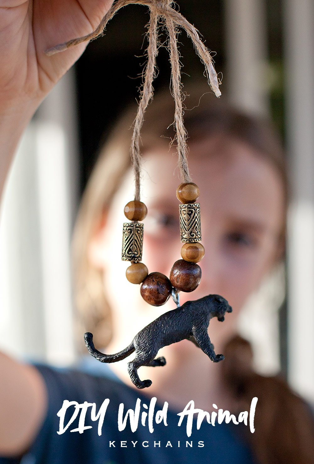 Jungle Safari Party Activity: Necklaces & Keychains // Hostess with the Mostess®