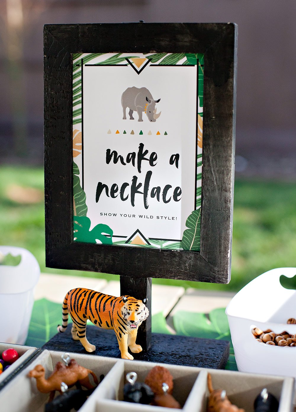 Jungle Safari Party Activity Sign