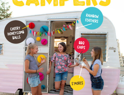 Bright & Colorful Camping Party Ideas
