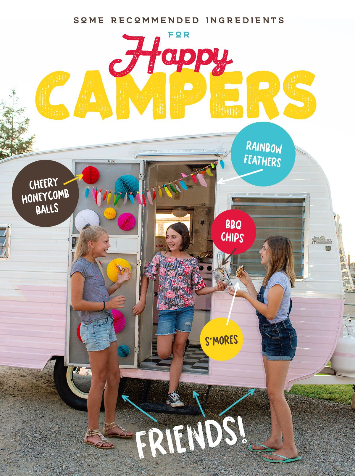 Bright & Colorful Camping Party Ideas // Hostess with the Mostess®
