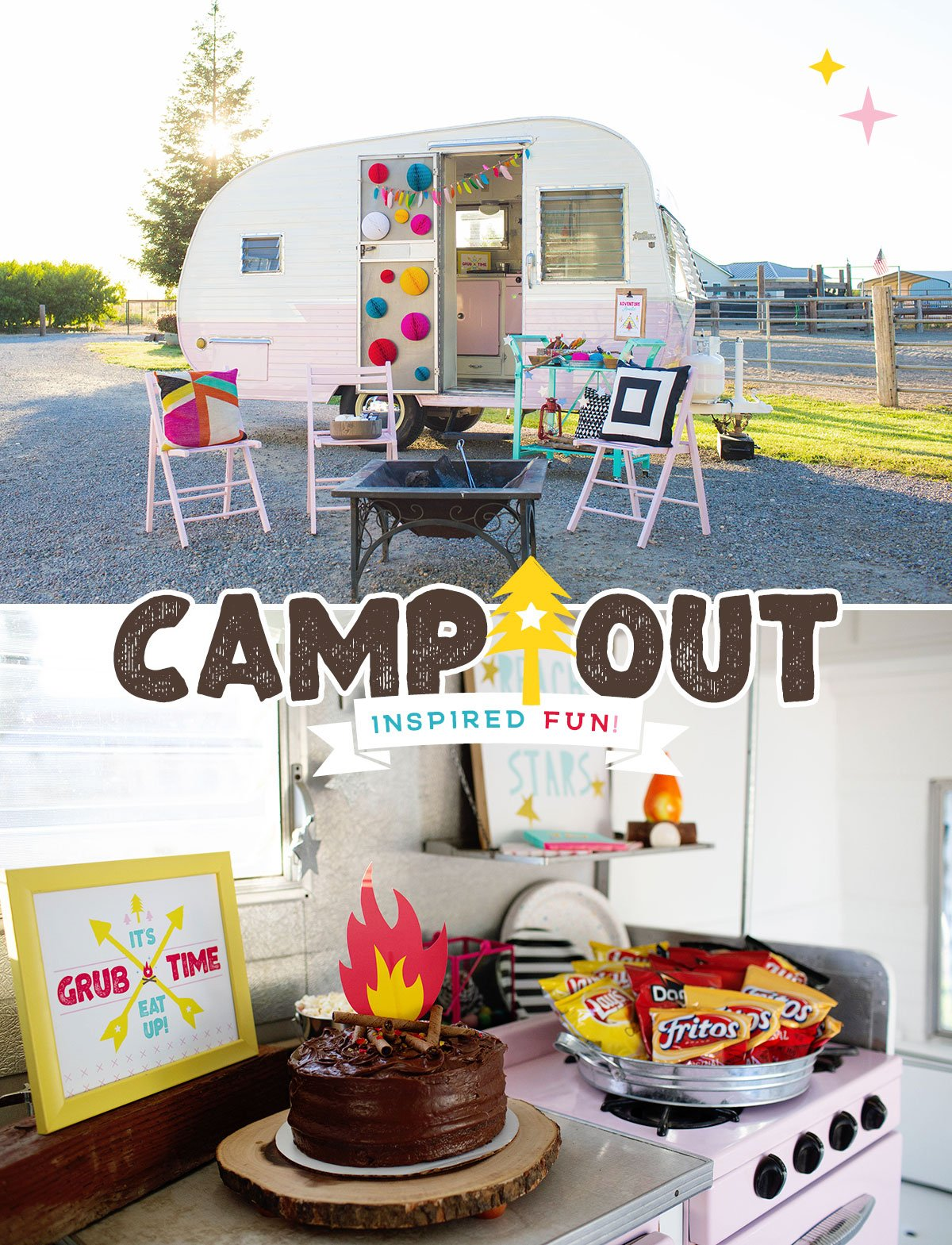 girls camping party ideas 2 – Activity Craft Holidays, Kids, Tips