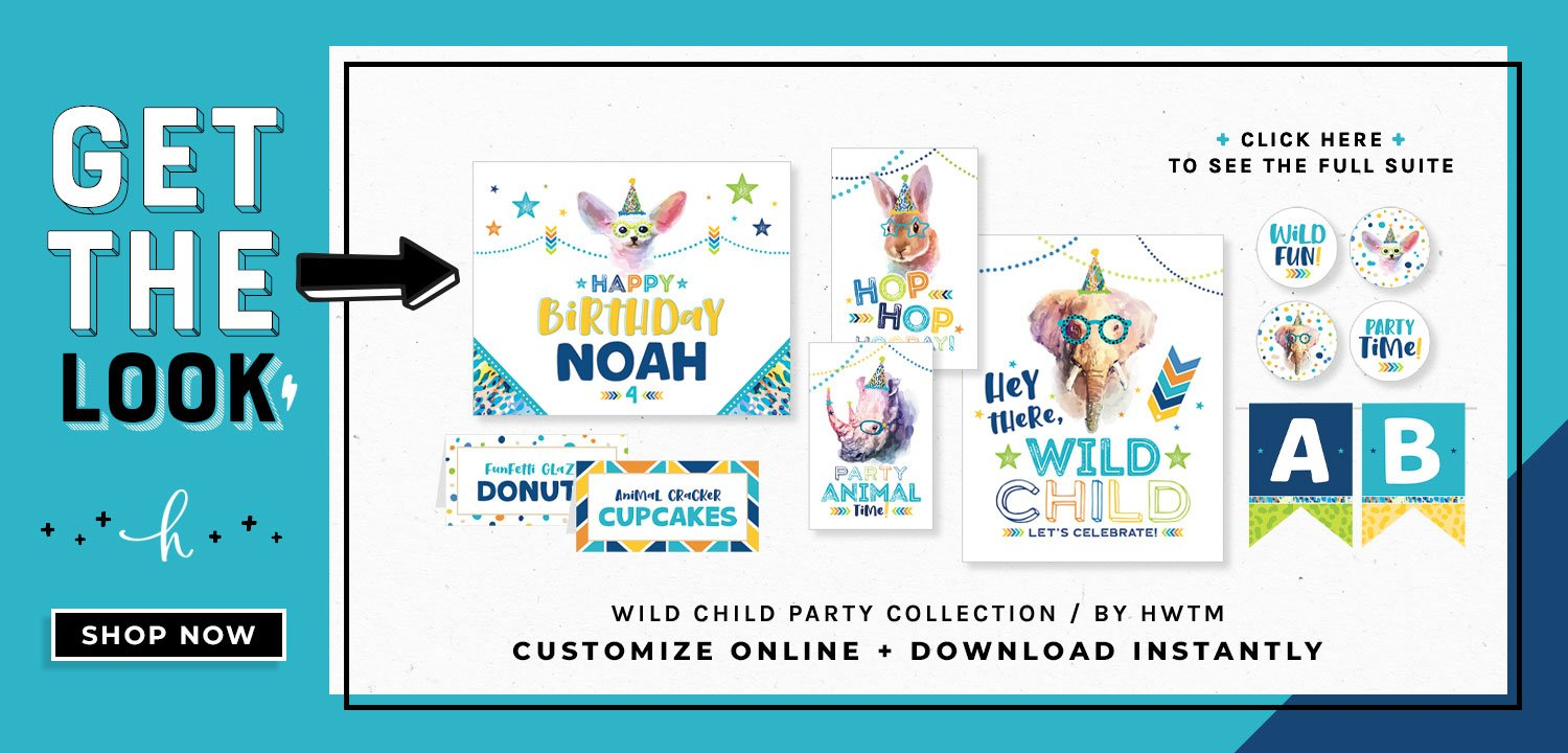 Wild Child Blue Printables