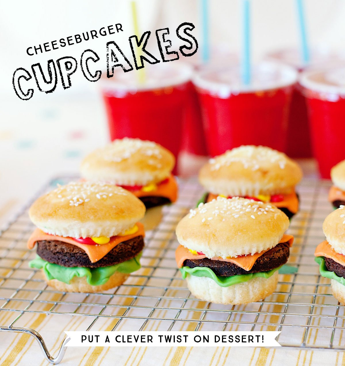 Clever Cheeseburger Cupcakes Recipe // Hostess With The