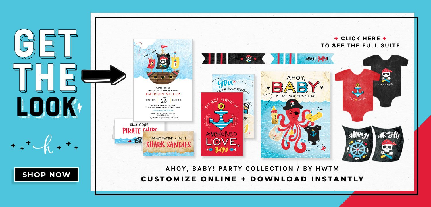 Pirate Baby Shower Printables