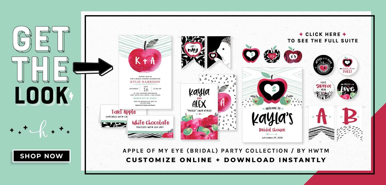 Apple of My Eye Bridal Printables