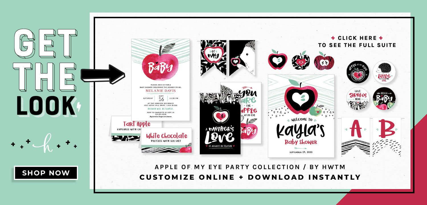 Apple of My Eye Baby Shower Printables