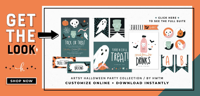 Artsy Halloween Party Printables