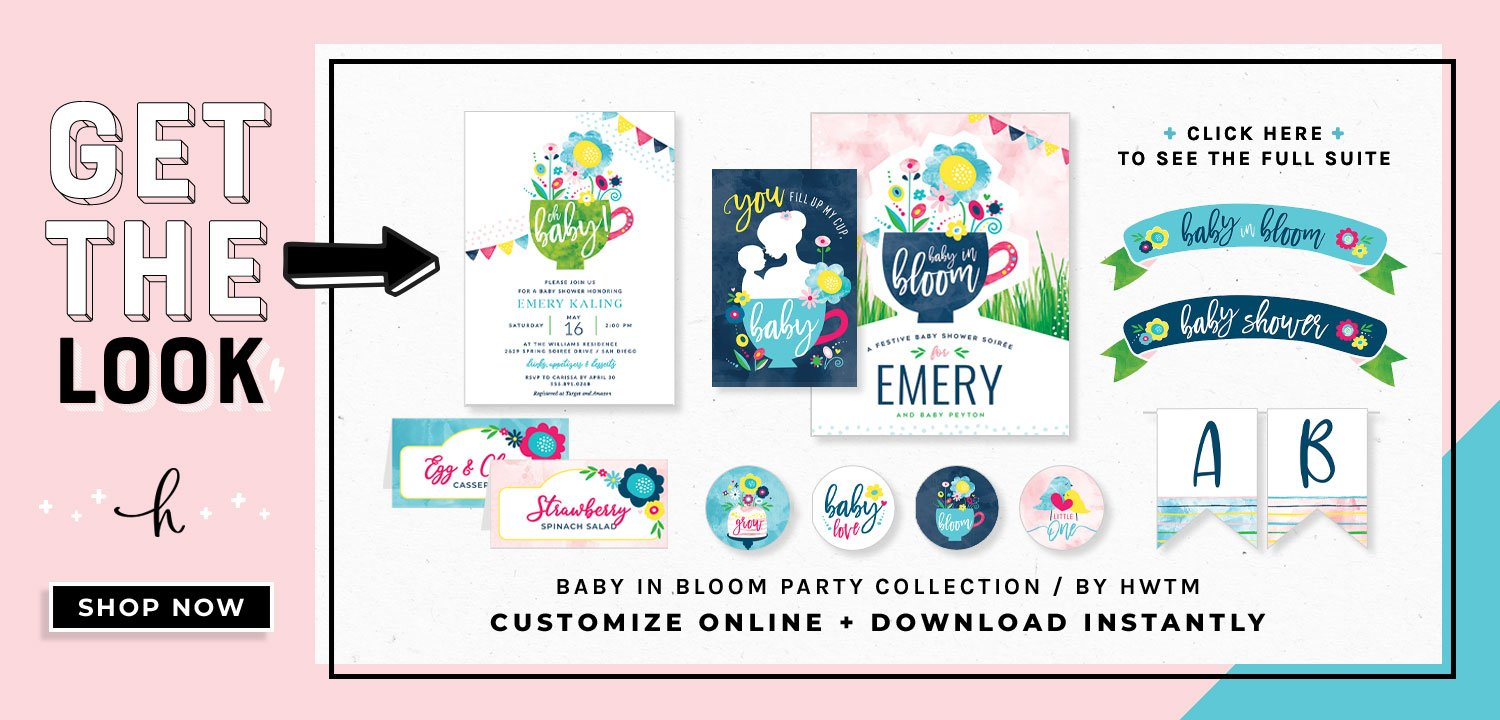 Tea Party Baby Shower Printables