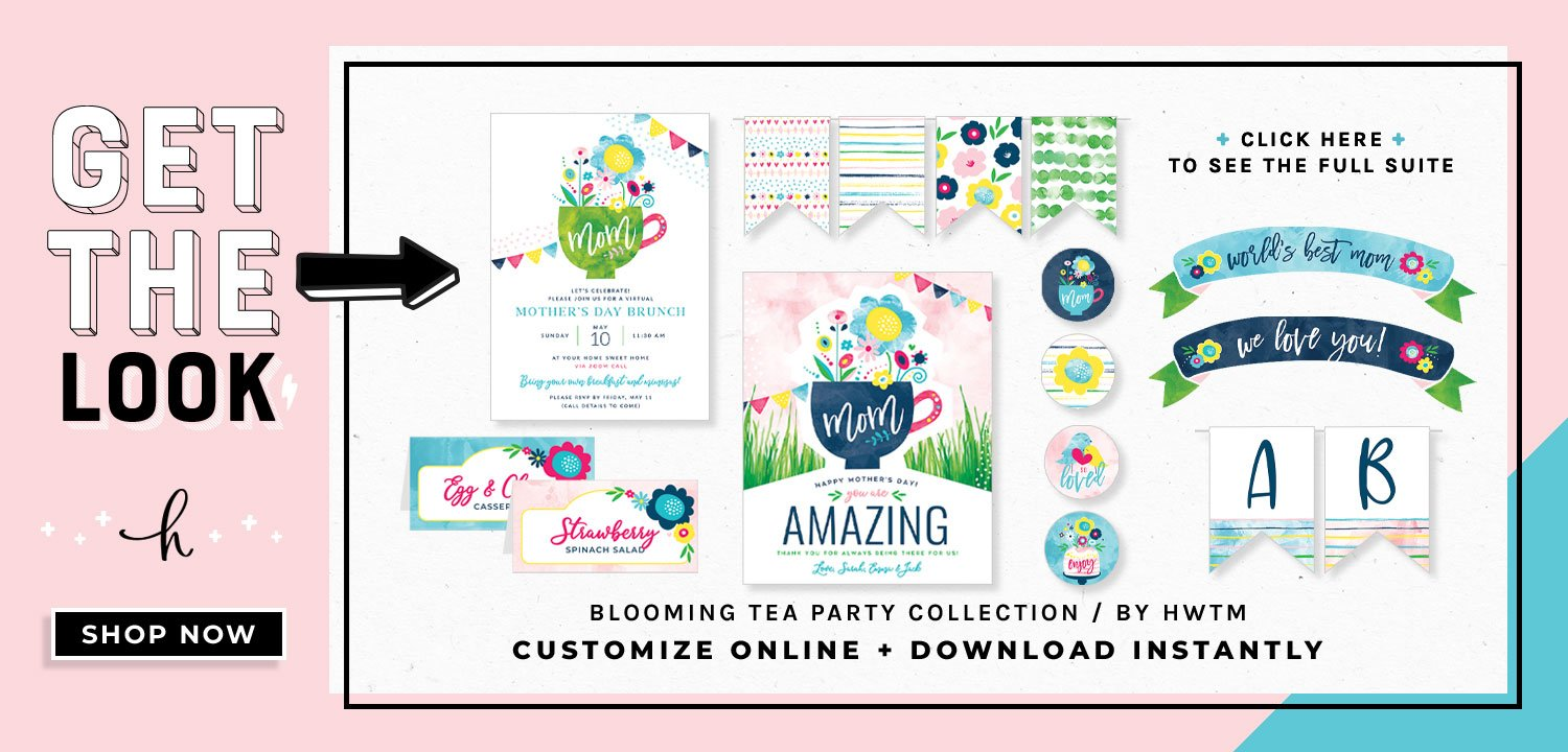Tea Holiday Party Printables