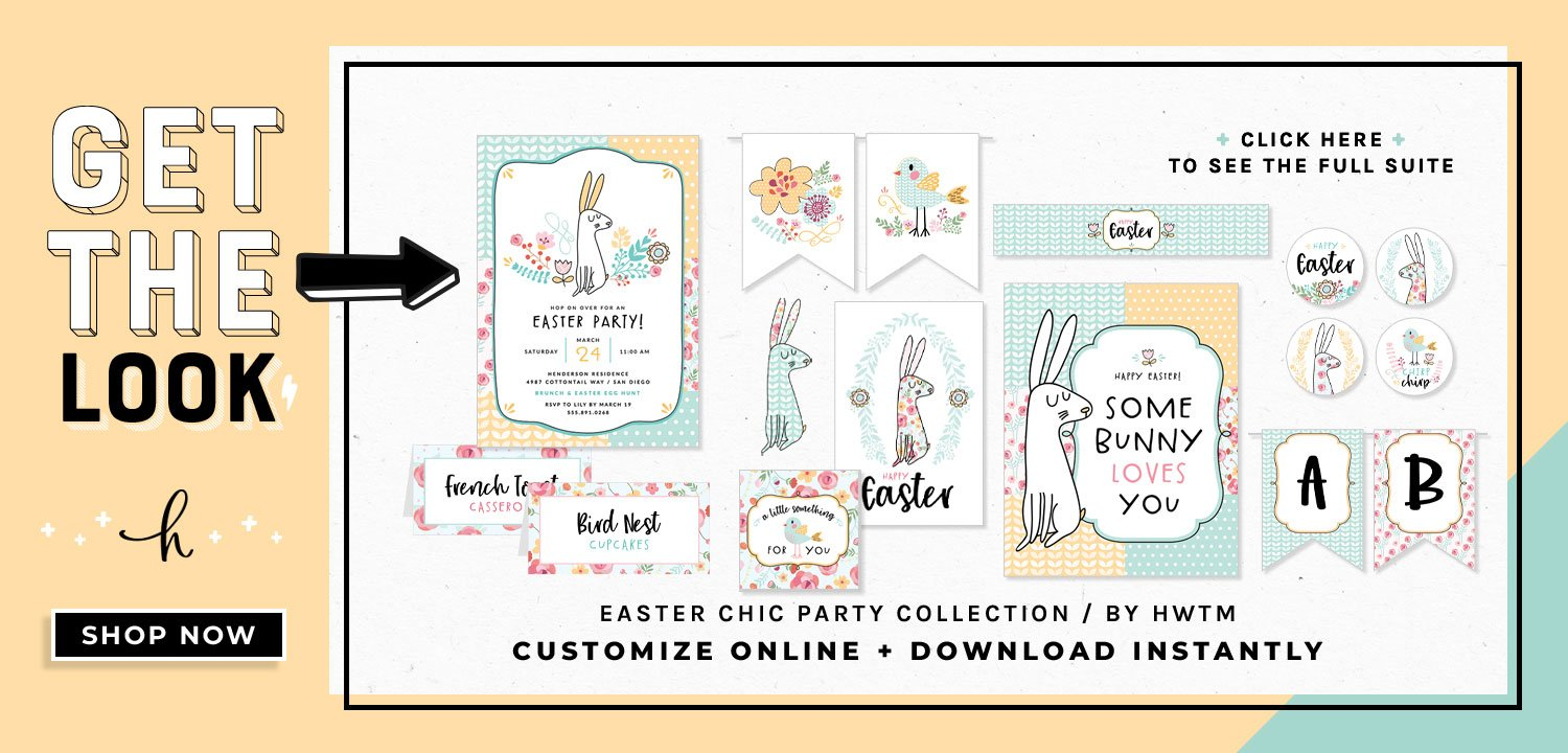 Easter Chic Holiday Printables