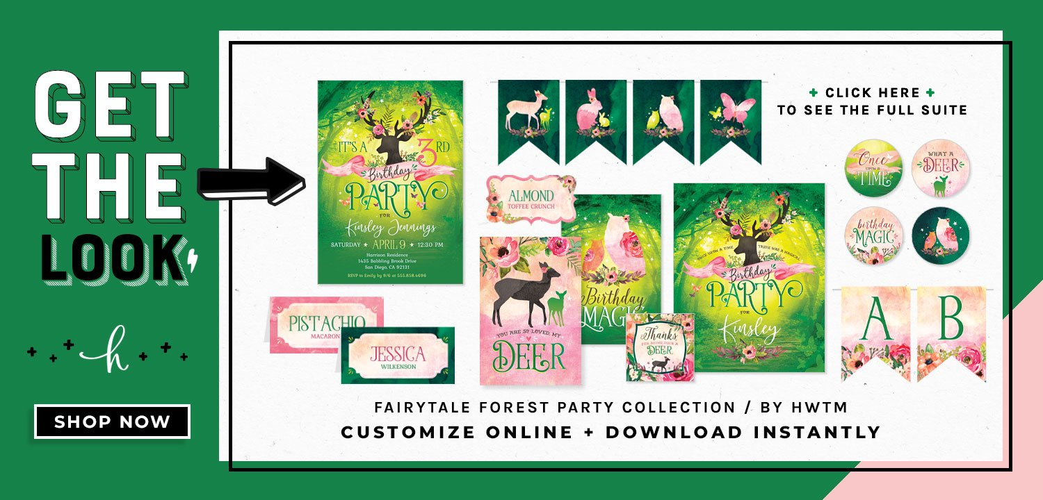 Fairytale Forest Birthday Printables