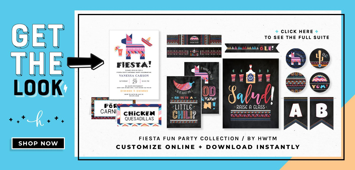 Fiesta Fun Party Printables