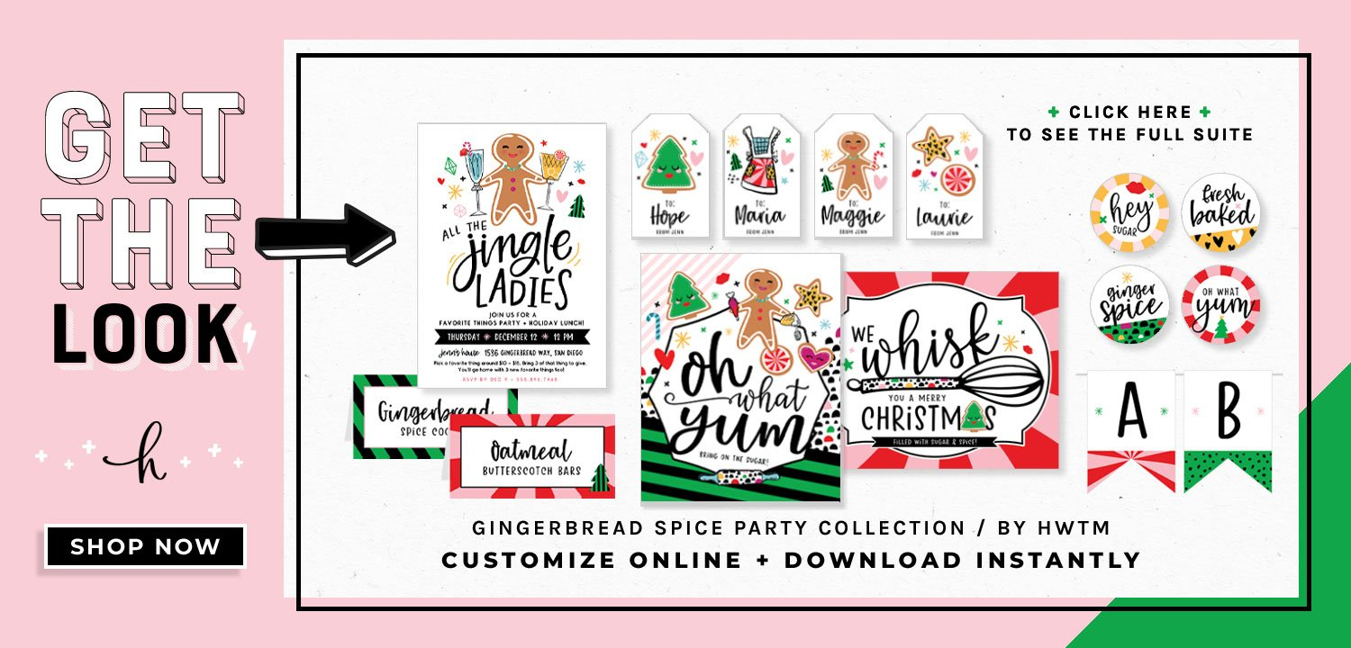 Gingerbread Holiday Printables