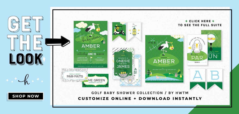 Golf Boy Baby Shower Printables