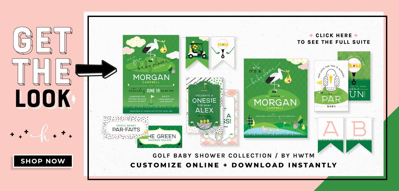 Girl Golf Baby Shower Printables