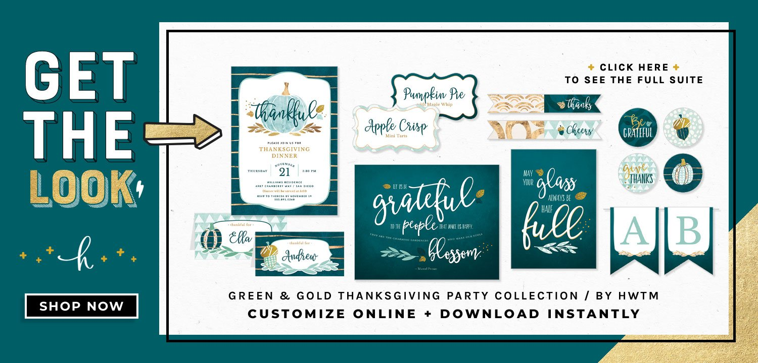 Green and Gold Holiday Printables