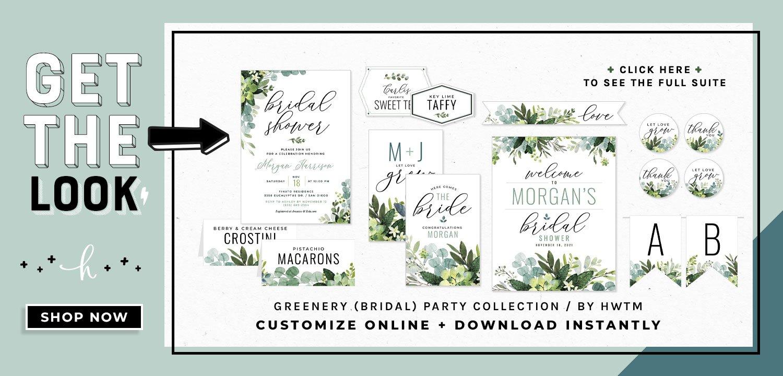 Greenery Bridal Shower Printables