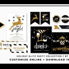 Glitz Gold Holiday Printables