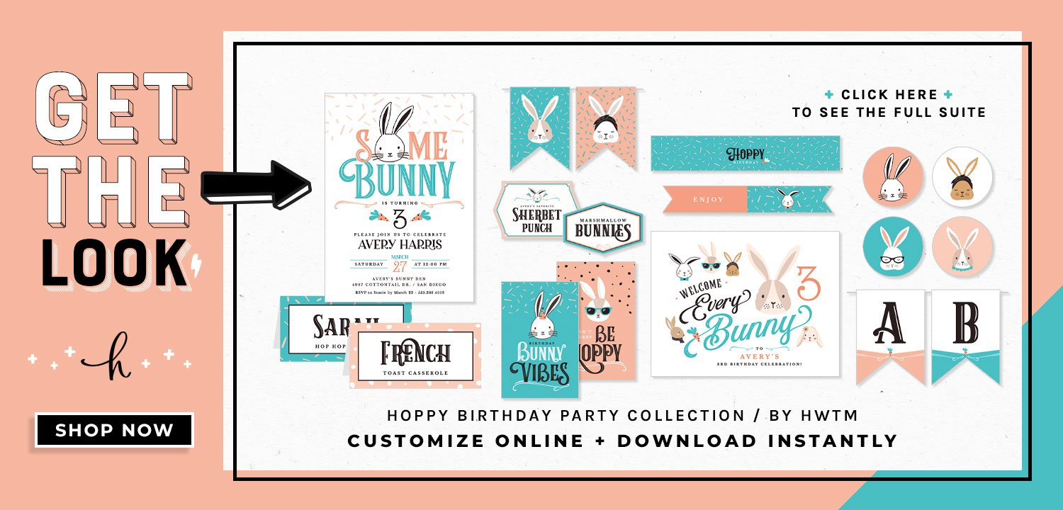 Hoppy Birthday Printables