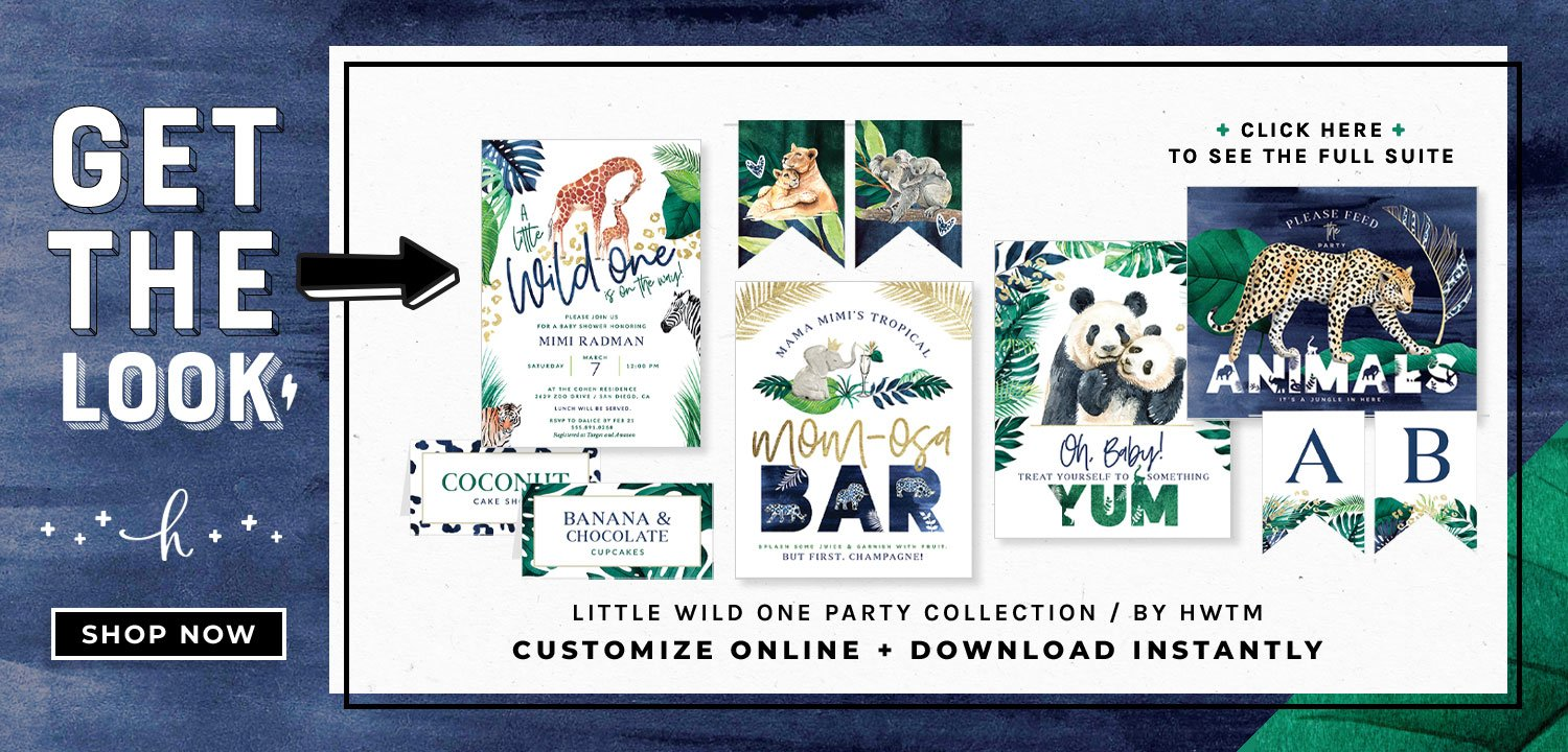 Little Wild One Baby Shower Printables