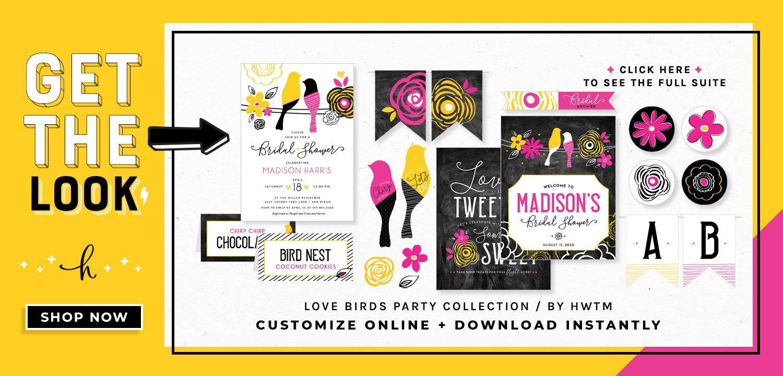 Love Birds Bridal Printables
