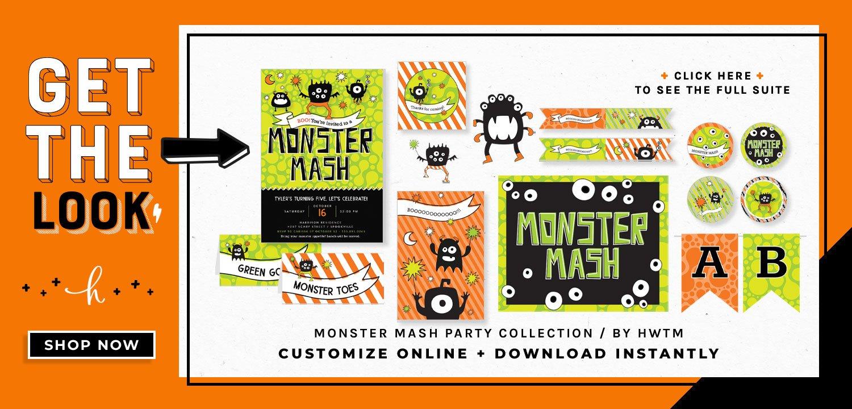 Monster Mash Holiday Printables