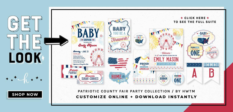 Patriotic County Fair Baby Shower