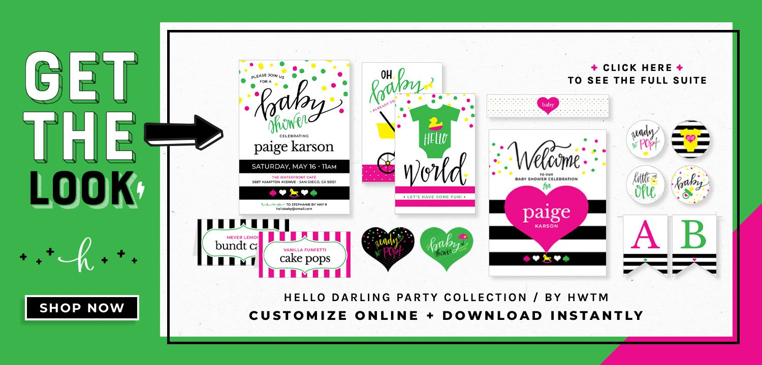 Kate Spade Baby Shower Printables