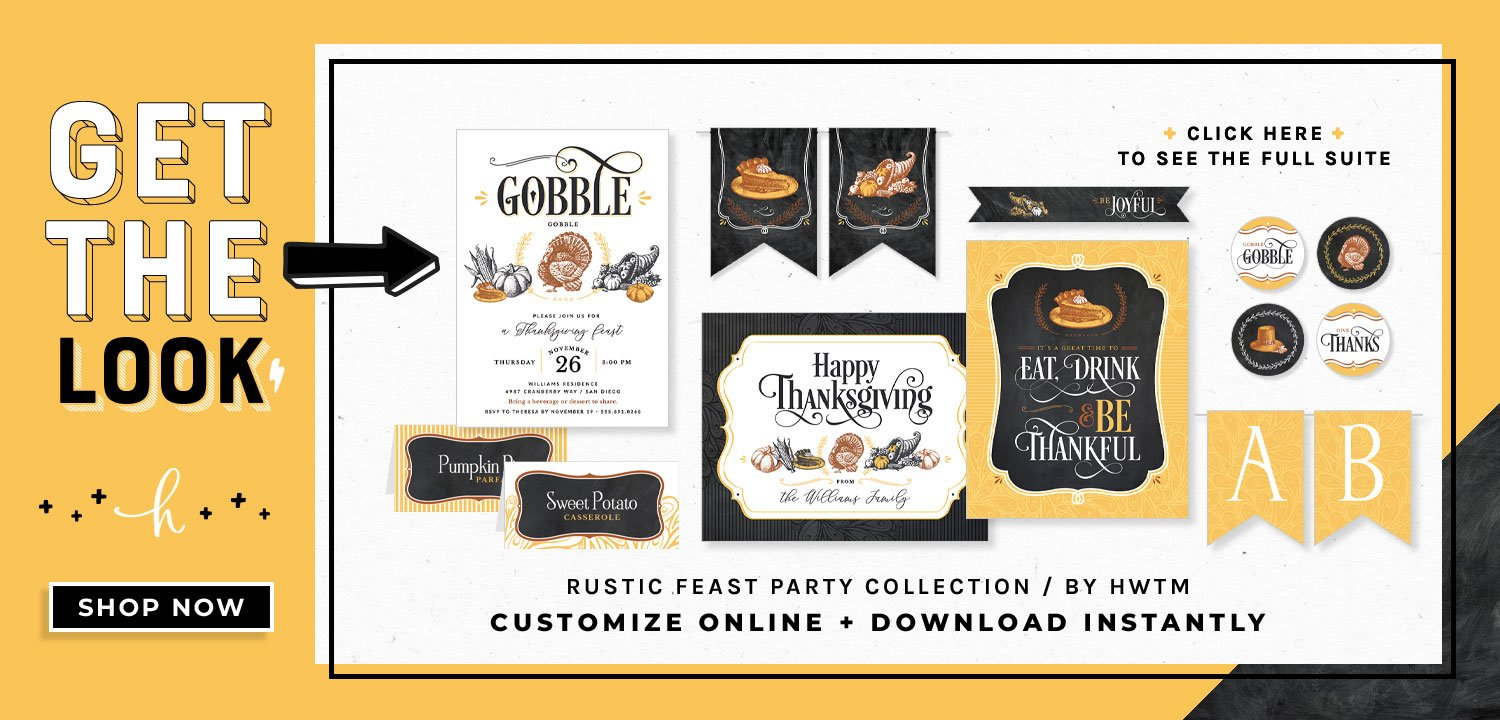 Rustic Feast Holiday Printables