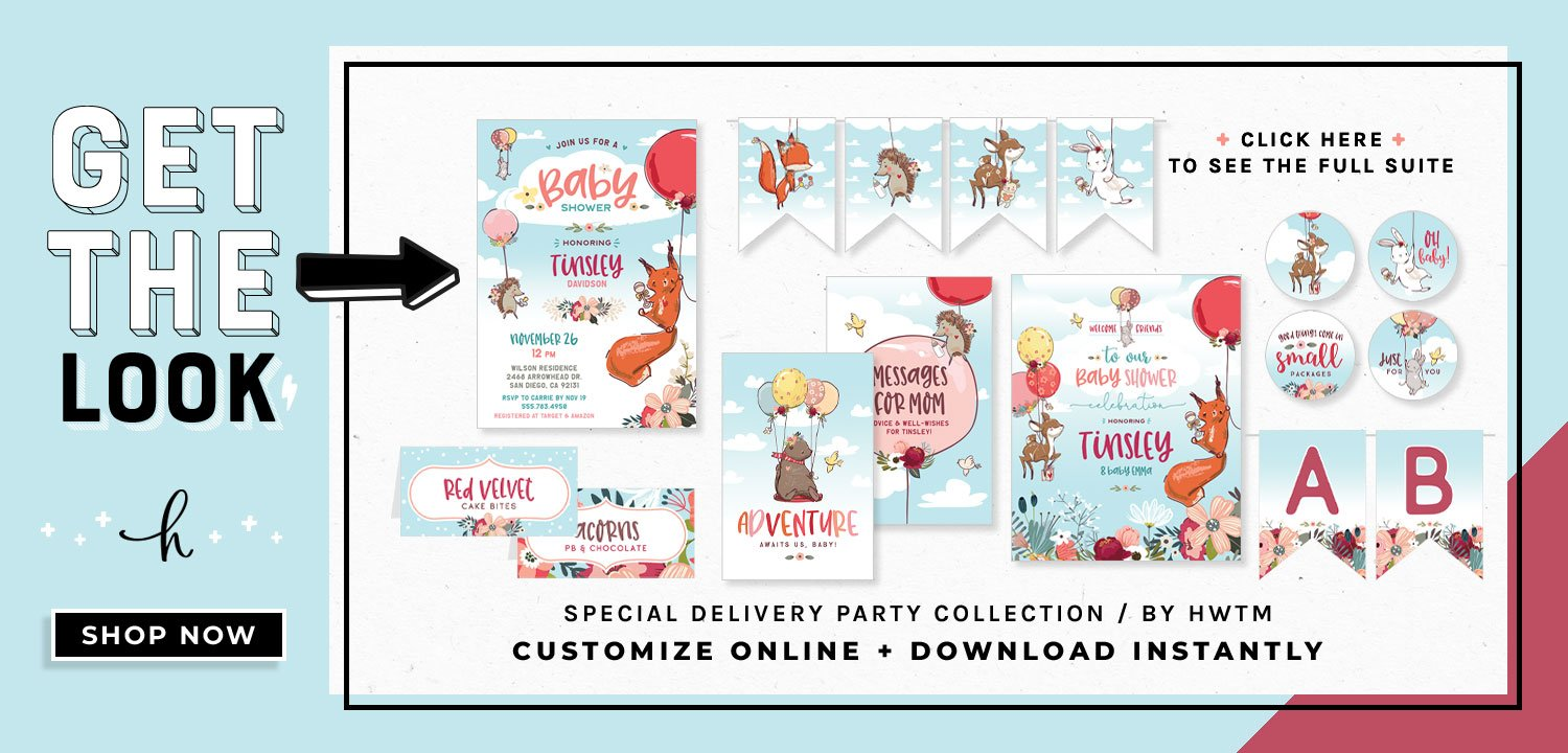 Woodland Forest Baby Shower Printables