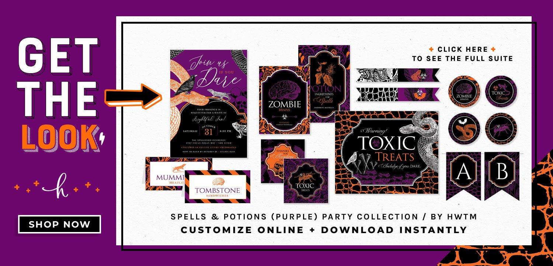 Spells Purple Holiday Printables