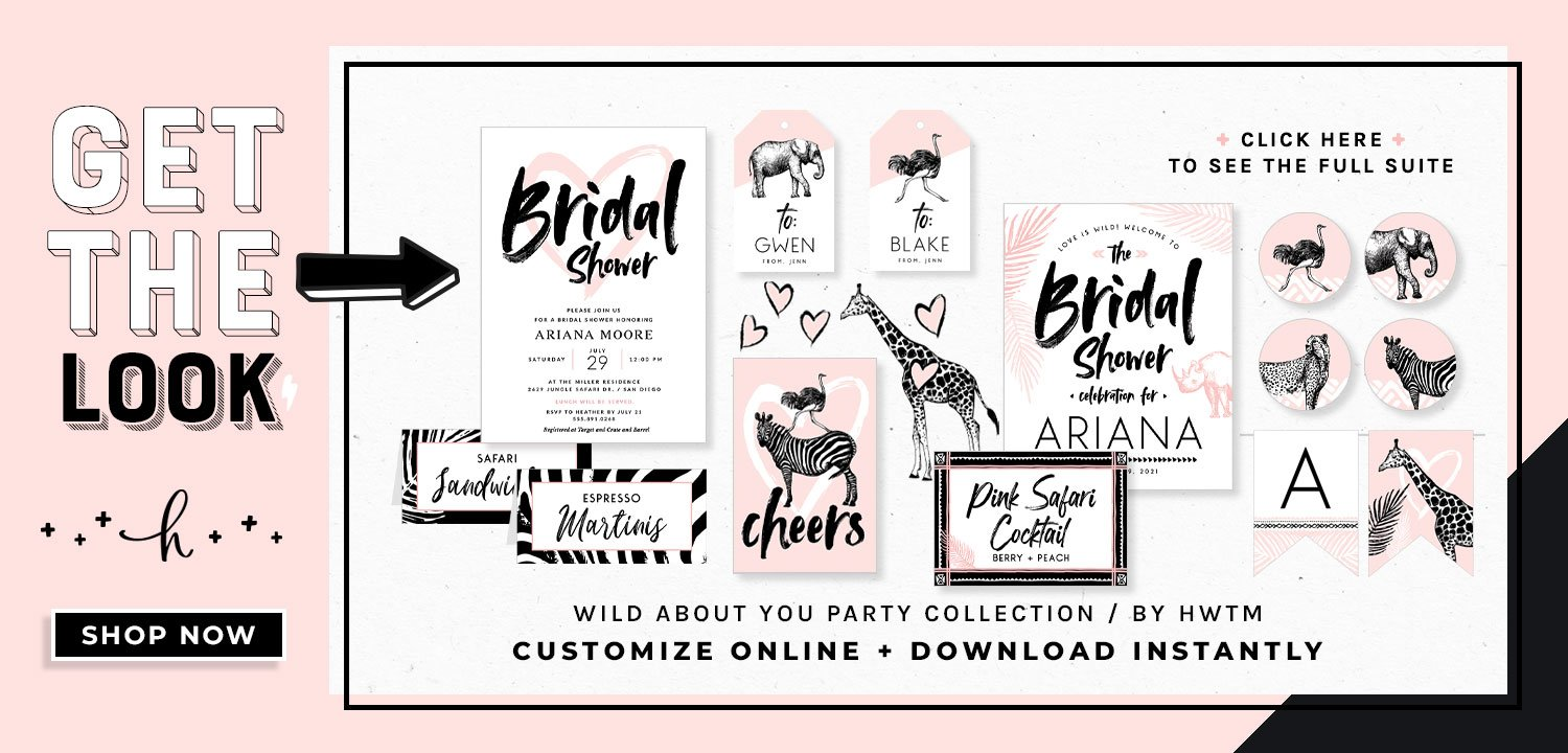 Wild About You Bridal Printables